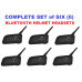 BTI Bluetooth Helmet Headsets (Set of 6)