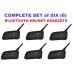 BTI Bluetooth Helmet Headsets (Set of 6)