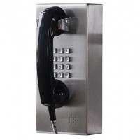 Stainless Steel PBX Phone Dialer with 2 Dialing Modes (Keypad or Auto Dial)