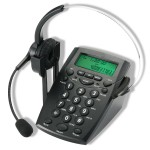 Hands-free Headset with Backlight Caller ID LCD Display