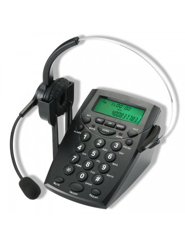Telephone Hands-free Headset with Backlight Caller ID LCD Display