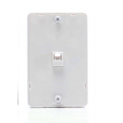 Wall-Mount Plate for Wall Phone w/ RJ11 Socket